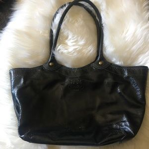 Coach Tote Bleecker 12362 Black Patent Leather